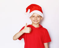 Portrait of a  boy dressed as Santa Royalty Free Stock Photo