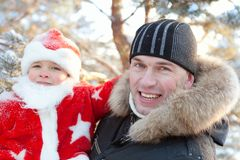 Portrait of boy dressed as Santa Royalty Free Stock Photography