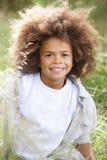 Portrait Of Boy Exploring Woods Stock Images