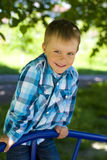 Portrait of boy of five years outdoor stock photos