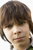 Portrait Of Boy Frowing Royalty Free Stock Images