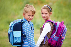 Portrait of  boy with  girl Stock Photography