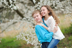 Portrait of a boy and girl Royalty Free Stock Photos