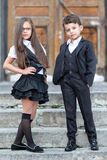 Portrait of a boy and a girl Royalty Free Stock Photos