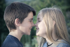 Portrait of boy and girl Royalty Free Stock Image