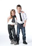 Portrait of a boy and girl Royalty Free Stock Image