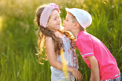 Portrait of a boy and girl Stock Photo