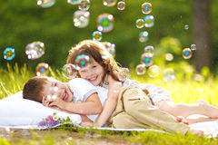 Portrait of a boy and girl Royalty Free Stock Photography