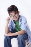 Portrait of boy with glasses. Stock Images