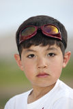 Portrait of boy with goggles. Royalty Free Stock Images