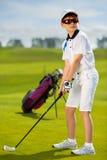 Portrait of boy golfer Royalty Free Stock Photography