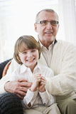 Portrait of boy with grandfather Royalty Free Stock Images