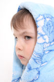 Portrait of the boy in a hood Royalty Free Stock Photo