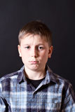 Portrait of a boy hurt Royalty Free Stock Images