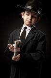Portrait of a boy in an image of the gangster Royalty Free Stock Photography