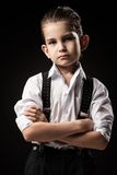 Portrait of a boy in an image of the gangster Stock Photography