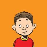 Portrait of a boy isolate illustration Stock Photo