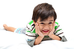 Portrait boy lay down Stock Image