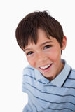 Portrait of a boy looking at the camera Stock Photo
