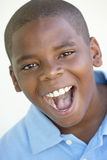 Portrait Of Boy Looking Excited Royalty Free Stock Photo