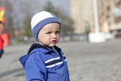 Portrait of boy outdoor Royalty Free Stock Images