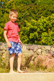 Portrait of boy outdoor in summer time. Royalty Free Stock Images
