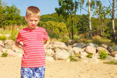 Portrait of boy outdoor in summer time. Royalty Free Stock Photos