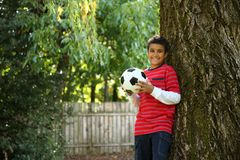 Portrait of boy outdoors royalty free stock photography