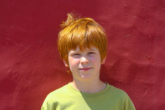 Portrait of boy with red hair Royalty Free Stock Images