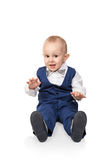 Portrait of boy sitting on the floor Royalty Free Stock Image