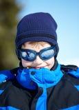 Portrait of a Boy in ski glasses Stock Image