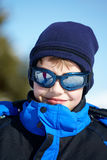 Portrait of a Boy in ski glasses Stock Images