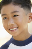 Portrait Of Boy Smiling Stock Photo