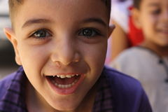 Young Egyptian boy. A portrait of a happy young boy in Kafr Ghataty, Giza, Egypt Royalty Free Stock Photo