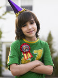 Portrait of Boy Smiling Outdoors Royalty Free Stock Photo