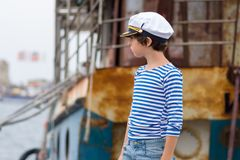 Portrait of a little boy. Royalty Free Stock Images