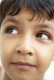 Portrait Of Boy Thinking Stock Image