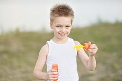 Portrait of a boy on vacation Stock Images