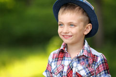 Portrait of a boy on vacation Stock Photos