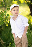 Portrait of a boy on vacation Stock Photo