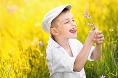 Portrait of a boy on vacation Royalty Free Stock Image