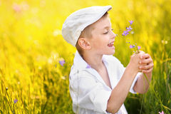Portrait of a boy on vacation Royalty Free Stock Photography