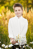 Portrait of a boy on vacation Royalty Free Stock Photo