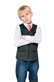 Portrait of the boy in vest and tie Stock Images