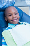 Portrait of boy waiting for dental exam Stock Images
