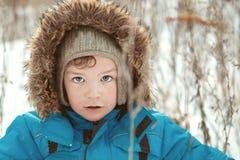 Portrait of  boy walking, winter Stock Images