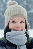 Portrait of boy wearing scarf, winter Stock Photography