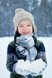 Portrait of boy wearing scarf, winter Royalty Free Stock Image