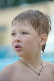 Portrait of a boy with wet head Royalty Free Stock Photography