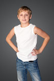 Portrait of a boy in a white shirt Stock Photo